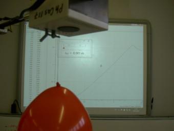 Der freie Fall eines Luftballons und seine Wechslewirkung mit der Umgebungsluft wird mit Hilfe des Computerns gemessen und analysiert