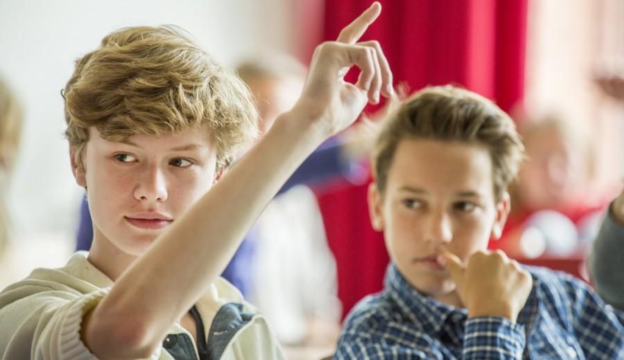 Schüler der Mittelstufe am Hochrad